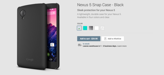 Nexus 5 snap case worth 30$ now available at Google Play