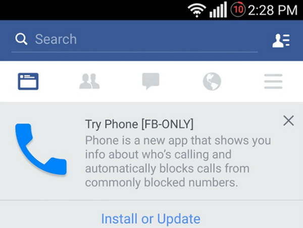 "Facebook not yet given up ""invade"" Android Smartphones 2015"
