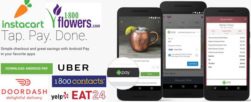 Latest 6 Google Android Pay Promotional Discounts only for U.S.A